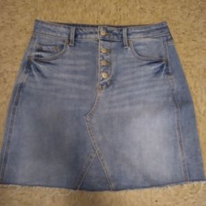 NWOT! Old Navy Button Fly Denim Skirt, Size 4